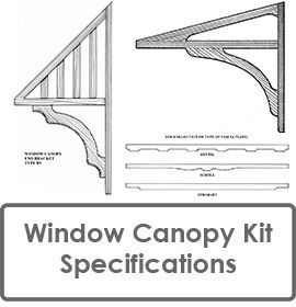 Window Canopy or Window Awning Kit and Door Canopy Kit