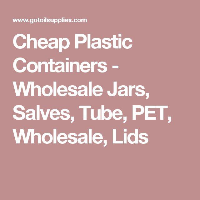 Cheap Plastic Containers - Wholesale Jars, Salves, Tube, PET, Wholesale, Lids