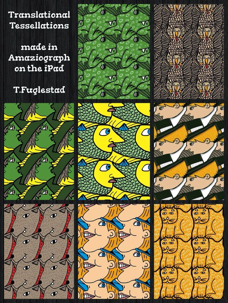 Terrific Tessellations | SchoolArtsRoom | Art Education Blog for K-12 Art Teachers- Tricia Fuglestad lesson