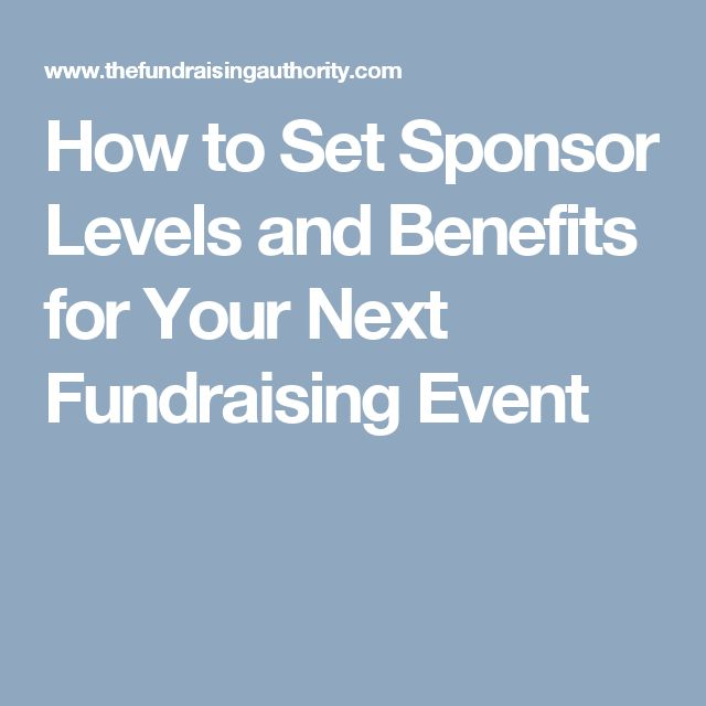 How to Set Sponsor Levels and Benefits for Your Next Fundraising Event