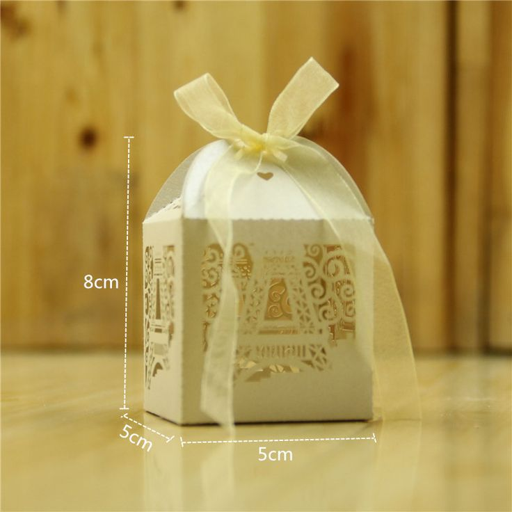 50Pcs Paris Eiffel Tower Hollow Out Paper Candy Box  Wedding Favors Gifts Sweet Bags Party Supplies