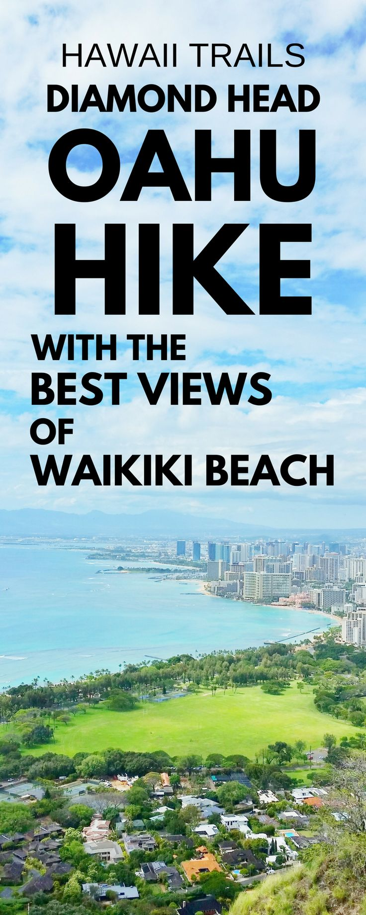 Best Oahu hikes with some of the best views of Waikiki Beach: Diamond Head Hike! US hiking trails in Hawaii, hikes on Oahu to choose on Hawaii vacation!Doing best hiking trails on Oahu gives things to do with nearby beaches for swimming, snorkeling, and to see turtles! Planning tips for this crater hike trail summit near Honolulu with what to wear hiking in Hawaii and what to pack and add to Hawaii packing list.Outdoor travel destinations, bucket list, budget adventures! #hawaii #oahu
