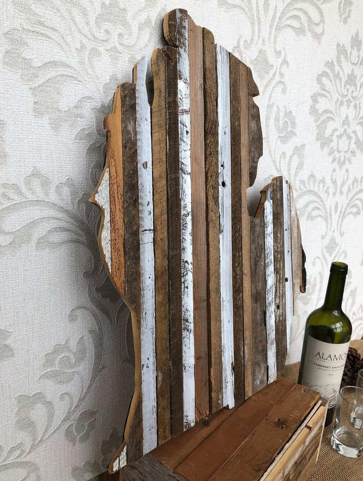 Reclaimed Barn Wood, State Outline, Michigan, Rustic Signs ...