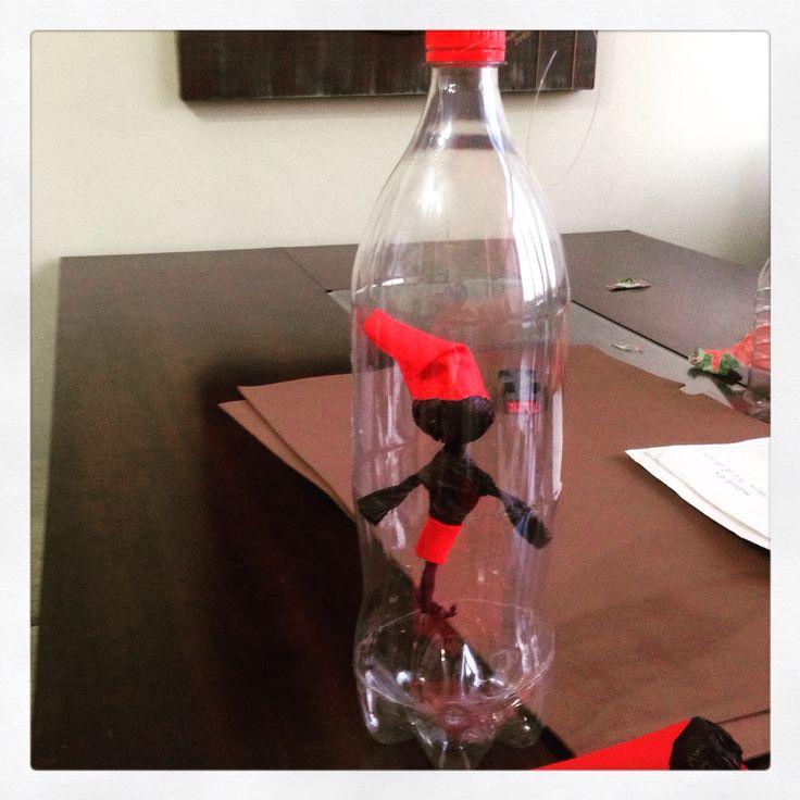 Saci na garrafa pet