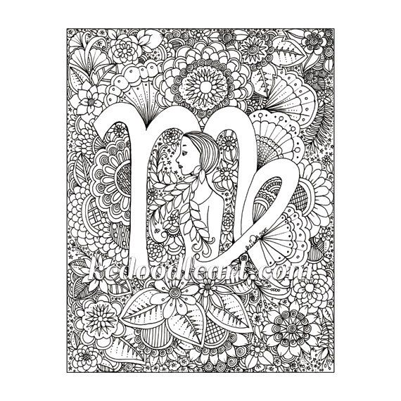 42 best Coloring Zodiac images on Pinterest Coloring books
