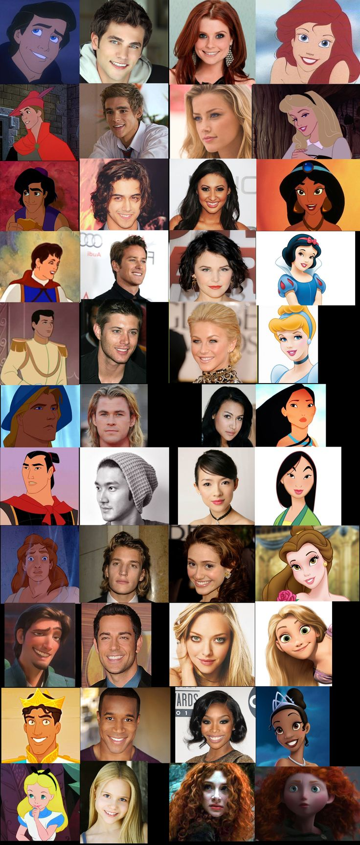 Wow! Best one yet! I think that they should make a real Disney princess movie about all of them together!