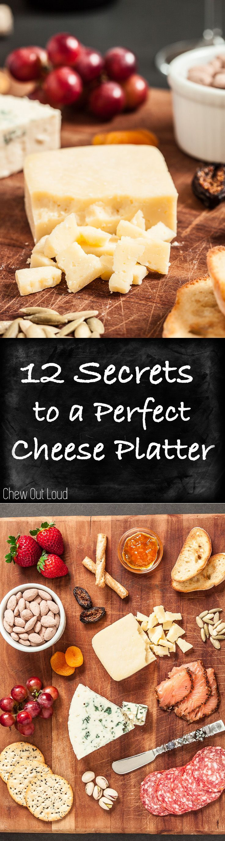 12 Secrets to a Perfect Cheese Platter. Plus Recipe for the BEST 4-ingredient, all natural (GF) Chocolate Cocoa Almonds! YUM. #appetizer #snack #chocolate
