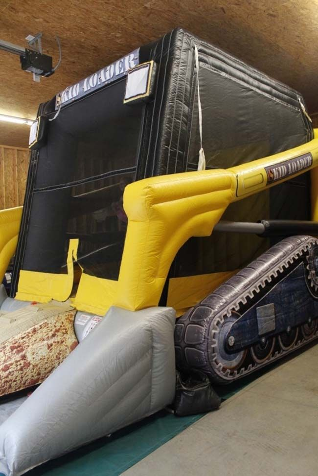 A bounce house like a skid loader? OMG! Micah would FREAK! Need to find one of these!!!!!