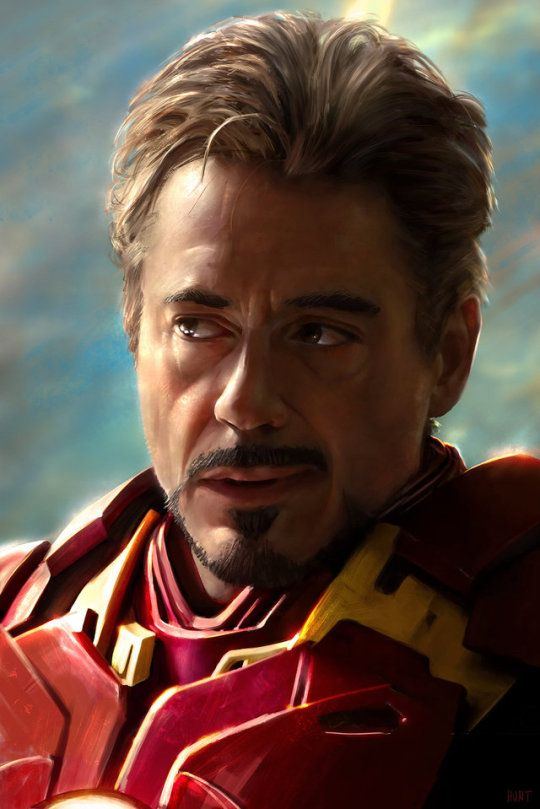 Tony Stark from Iron Man 2. This is a painting! (If anyone knows the artist, please leave a note...)