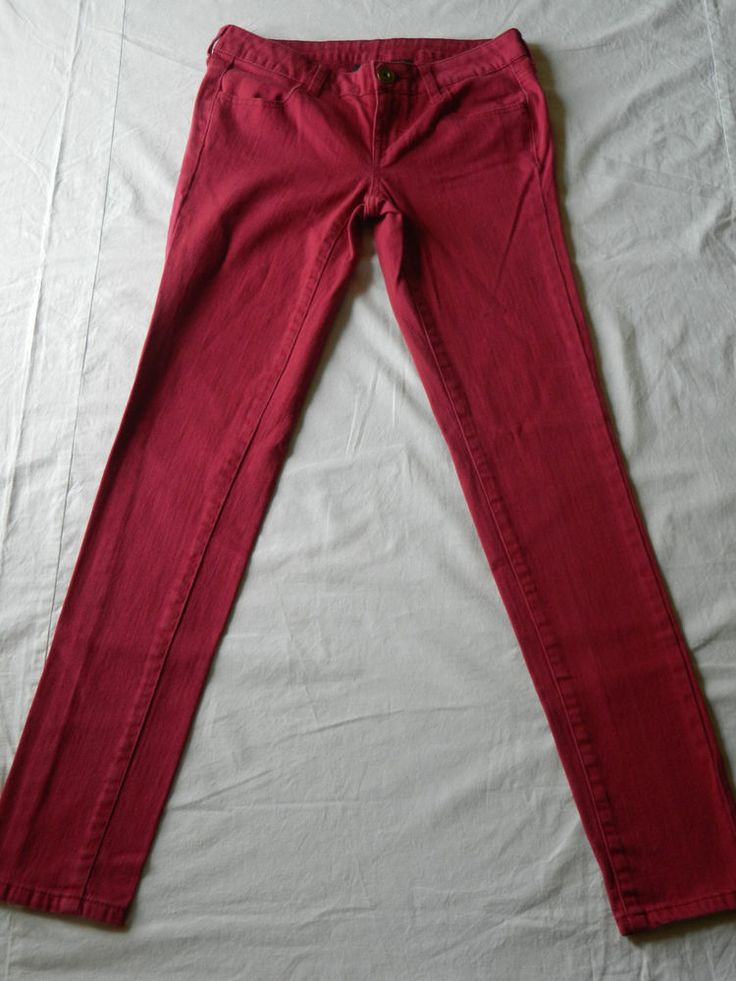 City Streets Sz 3 Womens Skinny Jeans Hot Pink and Turquoise: TWO PAIR!