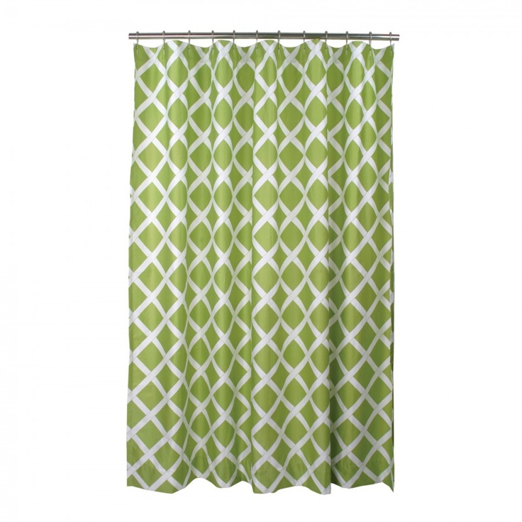 blissliving home kew green shower curtain bl62439