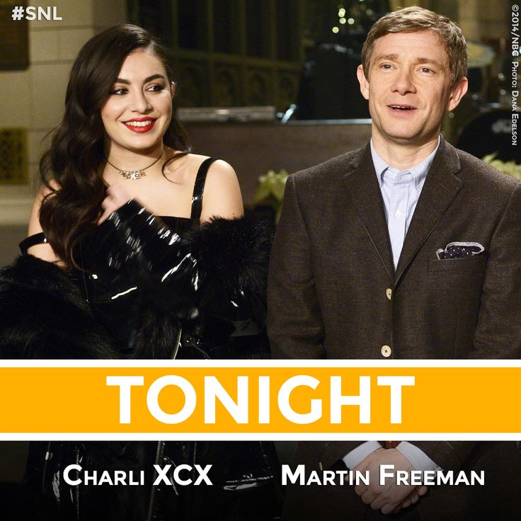 Martin Freeman hosts Saturday Night Live with musical guest Charli XCX tonight! #SNL