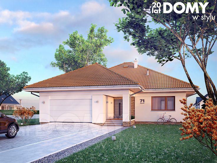 Projekt domu Ariel 6 - wizualizacja frontowa