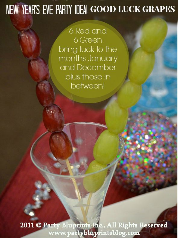 GOOD LUCK GRAPES: Add a conversation starter to your New Year's Eve Bash and bring Good Luck to your guest
