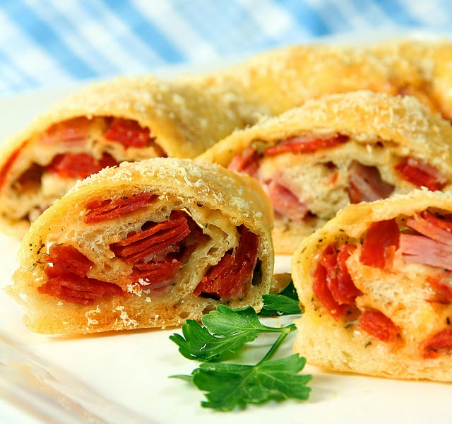 Stromboli with Salami, Pepperoni, Ham and Cheese by Kirsten| My Kitchen in the…