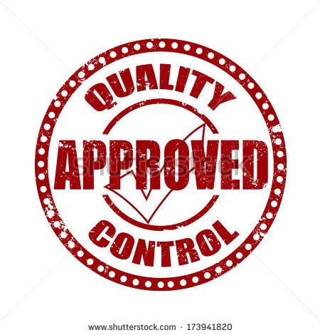 quality approved control grunge on whit , vector illustration - stock vector