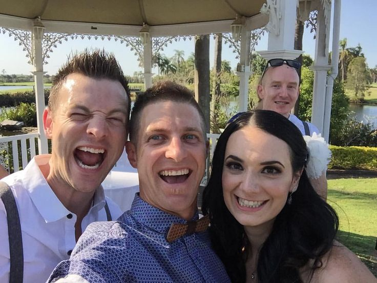 Good times with Isaac & Monique today, in the cool shade!! We had quotes from Scrubs, poems about owning a dog, they have 3 fur babies including a one eyed cat and their awesome story from here to now! An awesome Gold Coast Wedding experience!