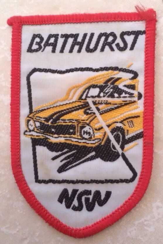 Iconic patch of the famous race - Bathurst 1000 NSW -Souvenir Woven Cloth Patch Badge Torana Circa 1972 1973 in Collectables, Pins, Badges, Patches, Badges | eBay