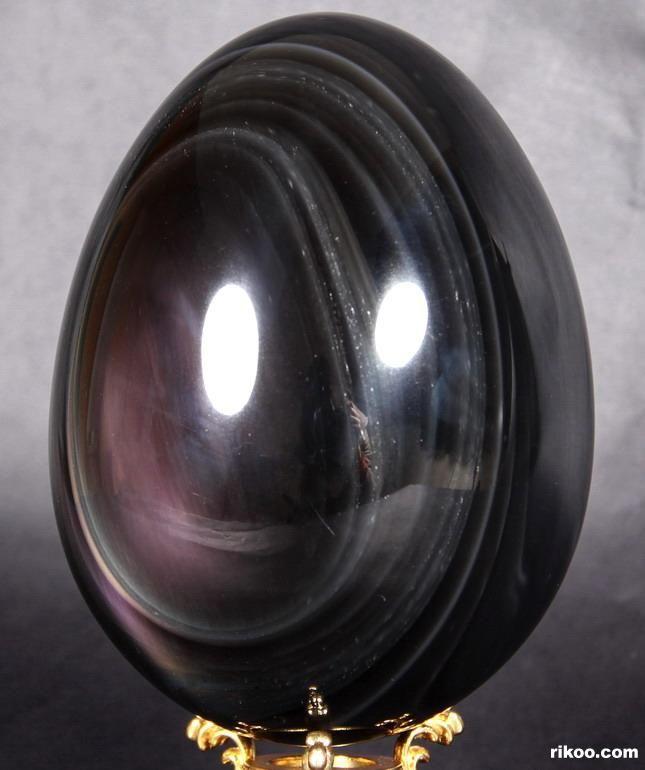 Rainbow Obsidian Crystal Egg