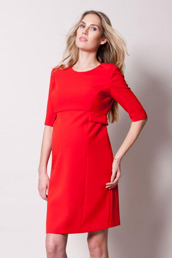 Festliche Umstandsmode in Rot. Sehr elegant in der Schwangerschaft // Maternity occasion wear in red.  Very elegant during pregnancy.