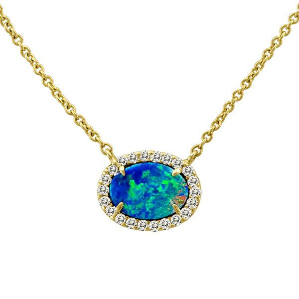 Meira T Australian Opal and Diamond Necklace – Meira T Boutique