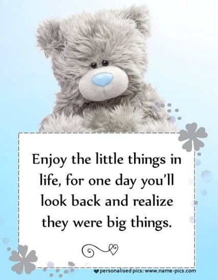 Tatty teddy - enjoy the little things