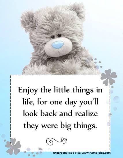 Tatty teddy - enjoy the little things