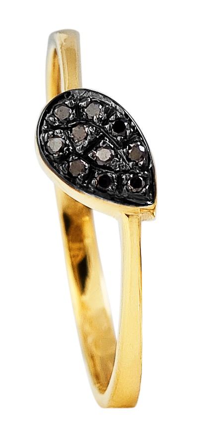 Anel em ouro 18k Amarelo com 6 Pontos de Diamantes negro - Jóias de Ouro, Alianças, Relógios, Óculos de Sol em Porto Alegre, RS - Joalheria e Ótica Coliseu