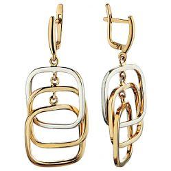 Купить золотые серьги ➤ http://zolotoy-standart.com.ua/catalog/sergi-bez-vstavok/zolotye-sergi-1-3-0933/