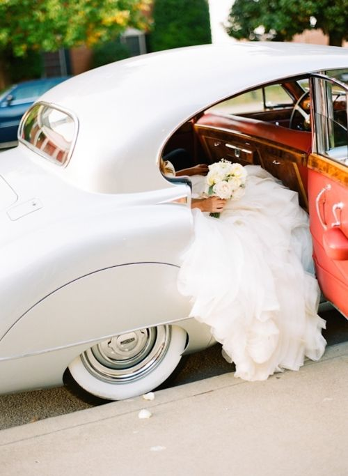 Wedding...vintage car