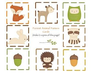 Free printables- Woodland animals