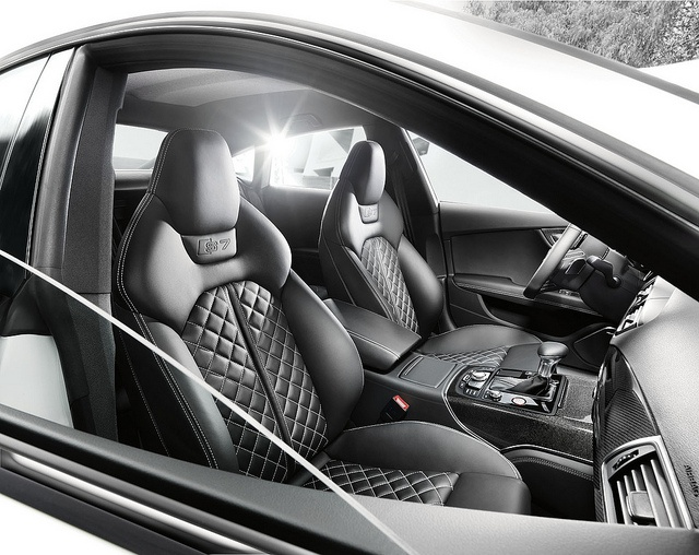 audi a7 white interior. quilted leather interior of audi s7 a7 white