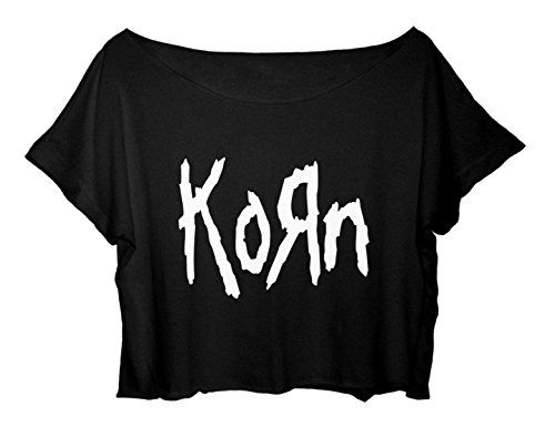 Women's Crop Tee Korn Shirt Metal Band Tee FREE SHIP