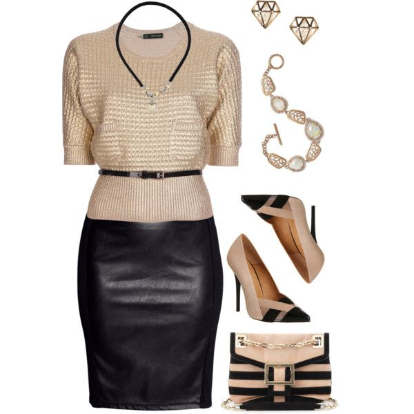 A fashion look from November 2014 featuring Dsquared2 sweaters, H&M skirts and Office pumps. Browse and shop related looks.