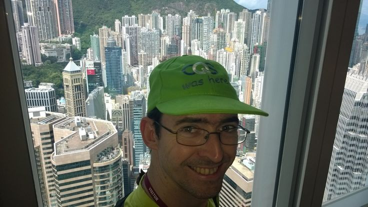 Ross Saunders in Hong Kong. Taken from the 55th floor of Two ifc.