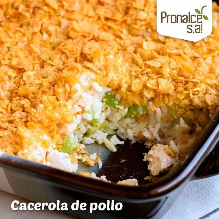La próxima vez que te pregunten qué comerías por el resto de tu vida, esta cacerola  de pollo y arroz con capa de #CerealPronalce será tu respuesta. Sigue la receta en nuestra fanpage