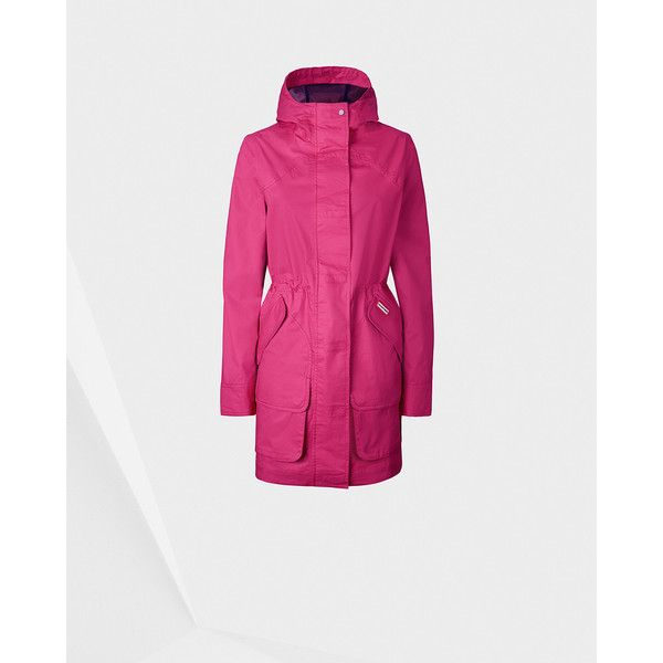 Women's Original Cotton Hunting Coat ($285) ❤ liked on Polyvore featuring outerwear, coats, pink, cotton coat, hunter coat, cotton sport coat, sport coat and pink sport coat