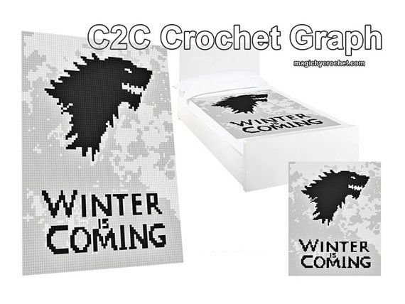C2C crochet Graph Winter is coming Cross Stitch PDF by GreatHome