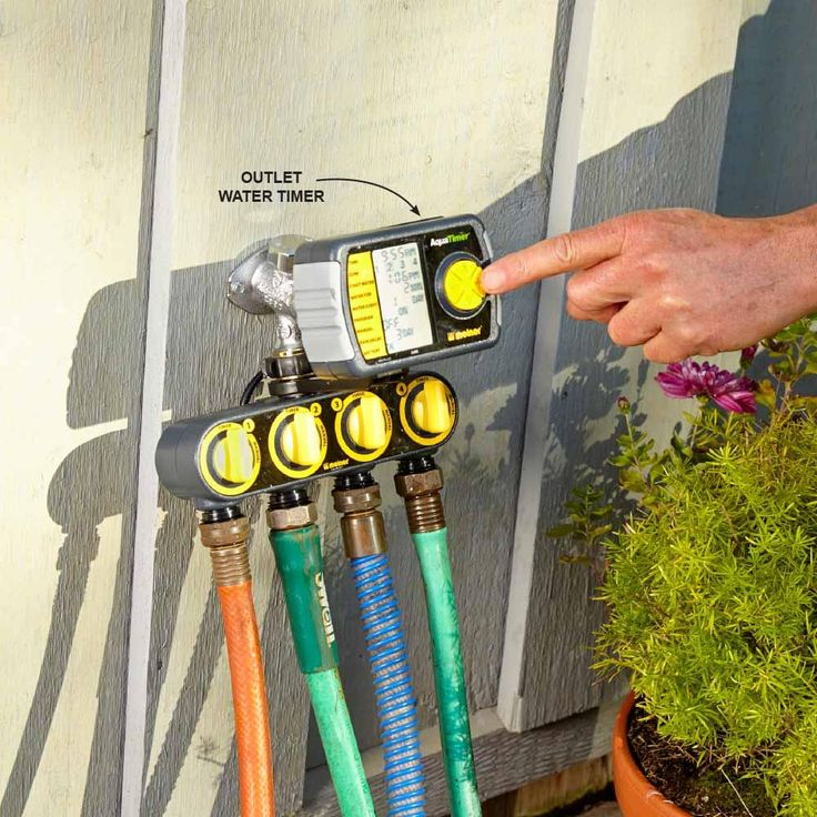 Install an Inexpensive Irrigation System - Smart and Effective Lawn Watering Tips: http://www.familyhandyman.com/landscaping/lawn-care/smart-and-effective-lawn-watering-tips#8