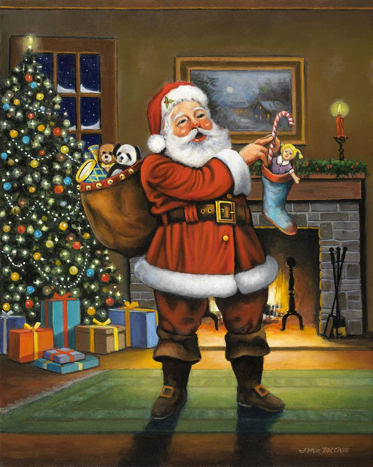 In case you were wondering, there are 11 months until Christmas! Today's #dailyartpick is this new Santa from John Zaccheo Fine Art Gallery!