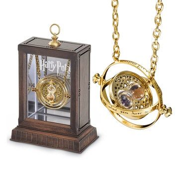 Hermione's Time Turner, courtesy of The Noble Collection. I have one and it's beautiful. However, whenever I turn it, I don't seem to go back in time and get extra hours in my day. I HAVE gotten more projects at work and pounds on my butt, though. I think it's broken ;-P