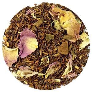 Amazing Benefits of Red Rooibos Tea. Health benefits of red rooibos tea include its use as a cure for nagging headaches, insomnia, asthma, eczema, bone weakness, hypertension, allergies, and premature aging. The tea is absolutely free from caffeine content and is also low in tannins.  Orange India Spice The exotic aroma orange, cardamom and spices will leave you relaxed.  Tealightfulteas.com