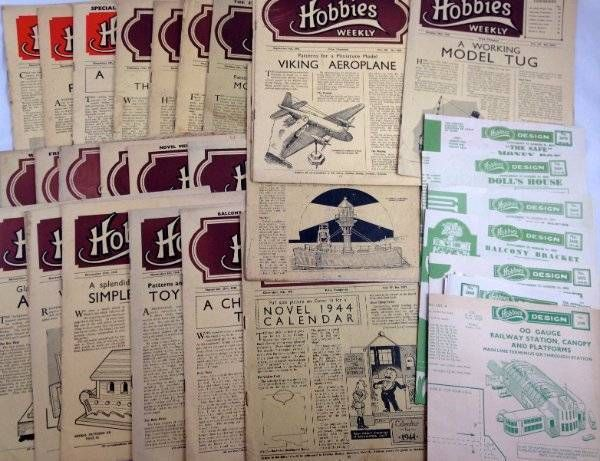 Hobbies Weekly Collection Job Lot 31 Issues Designs 1942-1946 Wartime Magazine