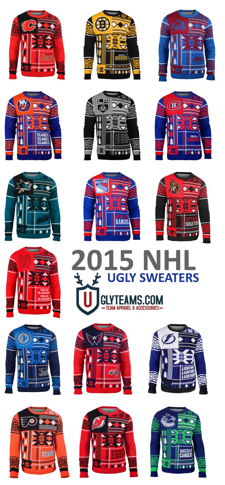 2105 NHL Ugly Sweaters from Uglyteams