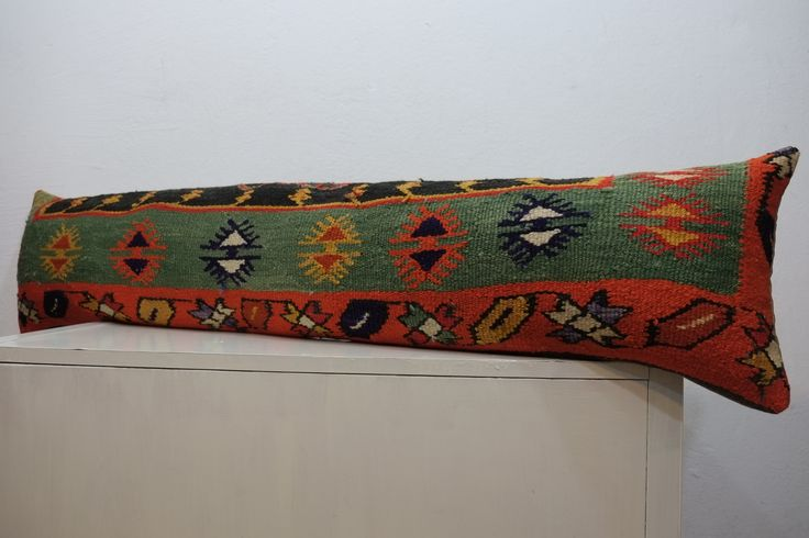 bohemian bedding,bedding pillow,12x52 inch,handmade pillow cover,for sale,kilim pillow,pillow,lumbar,wool,handmade,115 $