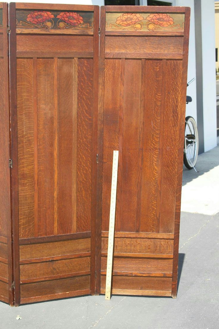 Antique arts and crafts furniture - Antique Arts And Crafts Room Divider Dressing Screen Orignal Craftsman