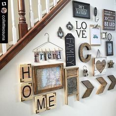 Love seeing where my handmade hard work ends up and if I do say so myself this Gallery Wall takes the cake any day!! @colletteosuna knows how to catch your eye!!! #Repost @colletteosuna with @repostapp. Some of my sweet friends want to see how we use maps/globes in our home decor so I couldn't pass up posting my @artbykelly wood Michigan map Kelly has created most of the rustic wood pieces you see on my gallery wall (Scrabble tiles wood map chevron arrows heart sign) & I smile at this wall…