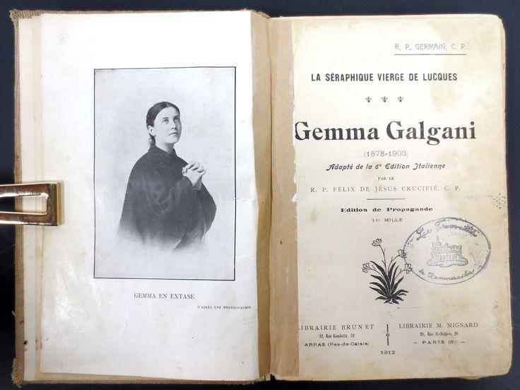Antique 1912 Gemma Galgani Biography Vierge de Lucques, Rev Felix de Jesus Paris