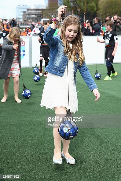 Princess Alexia taking part in games during King's Day the celebration of the birthday of the Dutch King on April 27 2016 in Zwolle