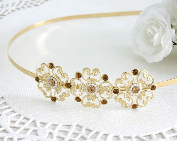 Delicate Flower Hair Band - Bridal Hair Accessories - Bridal Headband - Bridal Head Piece - Wedding Hair Accessory - Crystal Hair Band by AlinYerushalmi from AlinYerushalmi. Find it now at http://ift.tt/2oVrUz7!